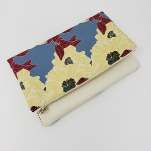 Rachel Pally Floral Foldover Reversible Clutch